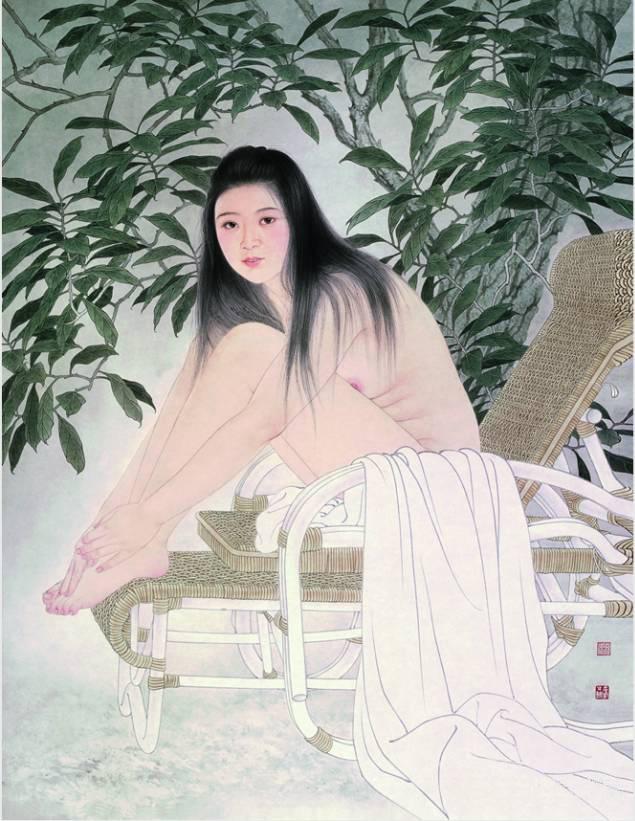 在工笔人物画创作这条漫漫长途上,我曾经深受何家英,蒋采萍等师长