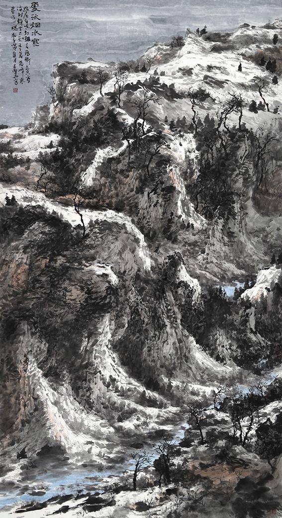 雪沃烟水寒丨180x97cm